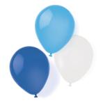 "8 Latex Balloons Sky Blue 25.4 cm / 10"""