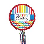 Pull Pinata Birthday Brights Paper / Plastic 45 x 45 x 8.2 c