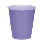 20 Cups New Purple Plastic 355 ml