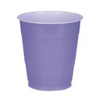 20 Cups New Purple Plastic 355 ml