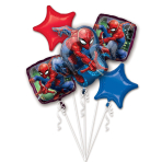 "Bouquet ""Spider-Man"" 5 Foil Balloons  , P75, packed,"