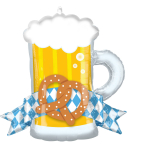 SuperShape Oktoberfest Mug Foil Balloon P30 Packaged 66cm x 63cm