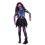 Child Costume Skeleton Girl  Recyc 8-10 Years