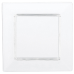 40 Tiny Square Appetizer Plates Plastic Clear 7.6 cm