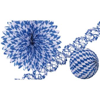 Decoration Kit Bavaria Paper 3 Pieces 25 cm / 50 cm / 400 x 12 cm