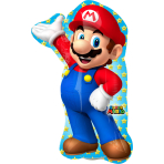 Mini Shape Super Mario Foil Balloon A30 Bulk 20 x 30 cm