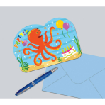 8 Invitations & Envelopes Ocean Buddies