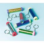 12 Key Chains Kaleidoscope Plastic 1.7 x 8.2 cm