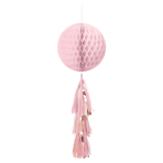 Honeycomb Decoration Rose Gold Blush Paper 71.1 cm