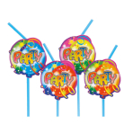 10 Drinking Straws Ballon Party