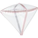 Diamondz Rose Gold Trim Foil Balloon G20 Bulk 38cm x 43cm