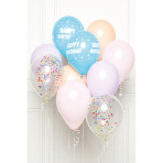 DIY Balloon Bouquet Happy Birthday Pastel 10 Balloons