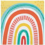16 Napkins Retro Rainbow 33 x 33 cm