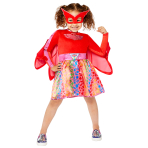 Child Costume Owlette Dress Rainbow Age 4-6 Years