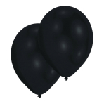 10 Latex Balloons Pearl Black 27.5 cm/11''