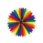 Fan Decoration Rainbow Paper 50 cm