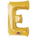 SuperShape Letter E Gold Foil Balloon L34 Packaged 53cm x 81cm