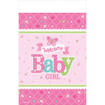 Table Cover Welcome Little One- Girl 138 x 259 cm