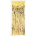 Door Curtain Gold Metallic Plastic 243 x 91.4 cm