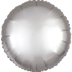 "Standard ""Satin Luxe Platinum"" Foil Balloon Round, S15, packed, 43cm"