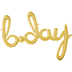 Script Phrase `Bday` Gold