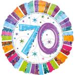 Standard Radiant Birthday 70 Foil Balloon S55 Packaged