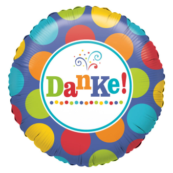 Standard Danke Foil Balloon S40 Packaged 43 cm