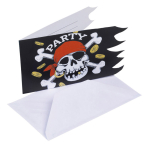 6 Invitations & Envelopes Jolly Roger