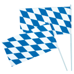 Flag Bavaria With Rod Paper / Plastic 12 x 23 cm