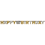 Letter Banner 60 Sparkling Celebration - Silver & Gold Prismatic