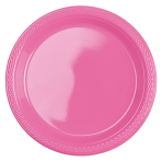 10 Plates Plastic Bright Pink 17.7cm