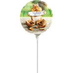 "9'' ""Avanti Thank You Chipmunk"" Foil Balloon Round , A20, bulk, 23cm"