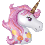 "SuperShape ""Magical Unicorn"" Foil Balloon, P35, packed, 83 x 73cm"