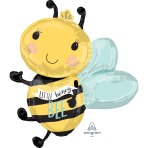 Supershape What Will it Bee Foil Balloon P35 packaged 63cm x 76cm