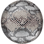 Orbz Snake Skin Print Foil Balloon G20 Packaged