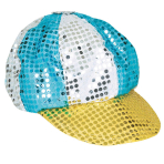 Sequined Disco Hat Multicolour