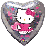 Standard Hello Kitty Love Hearts Foil Balloon S60 Packaged 43 cm