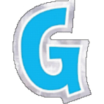 48 Stickers Letter G