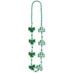 Shamrock Necklace St. Patrick's Electroplated 101 cm