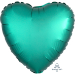 "Standard ""Satin Luxe Jade"" Foil Balloon Heart, S15, packed, 43cm"