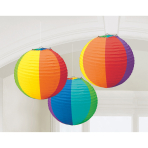 3 Lanterns Rainbow Paper 20.4 cm