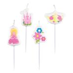 4 Mini Figurine Candles My Princess