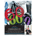 Party Kit 60th Birthday Paper / Plastic / Foil 6 Pieces 73.4 x 7.2 cm / 26.5 cm
