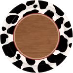 8 Plates Western Paper Round 17.7 cm