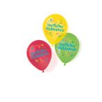 """6 Latex Balloons Herzlichen Glückwunsch 27.5 cm / 11"""""""