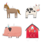 4 Character Candles Barnyard Birthday Height 2.7 cm / 3.5 cm / 3.7 cm / 8 cm
