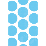 10 Paper Treat Bags Polka Dot Carribean Blue 11.3 x 17.7 cm