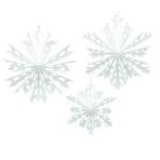 3 Fan Decorations Snowflake Paper 30.4 cm / 40.6 cm