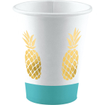 8 Cups Pineapple Vibes Paper 250 ml