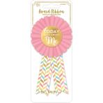Award Ribbon Confetti Fun Fabric / Foil 7.9 x 14.6 cm